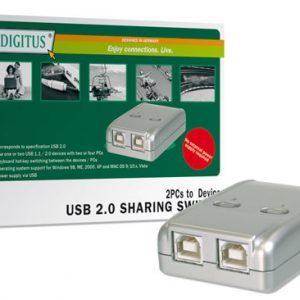 DATA SWITCH ELETTRONICO 2 PC CON UNA PERIF. USB 2.0 (DA70135)