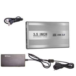 """BOX ESTERNO 3.5"""""""" (29015) SATA USB 3.0 SILVER"""