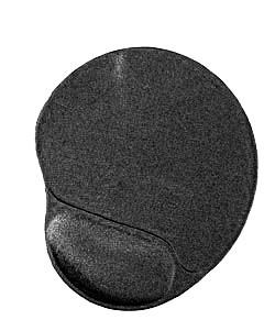 MOUSE PAD GEL CON POGGIA POLSO NERO (MP-GEL-BLACK)